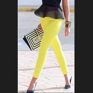 Gap Neon Yellow Legging Jean